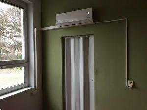 Prevedenie montáže s lištou klimatizácia